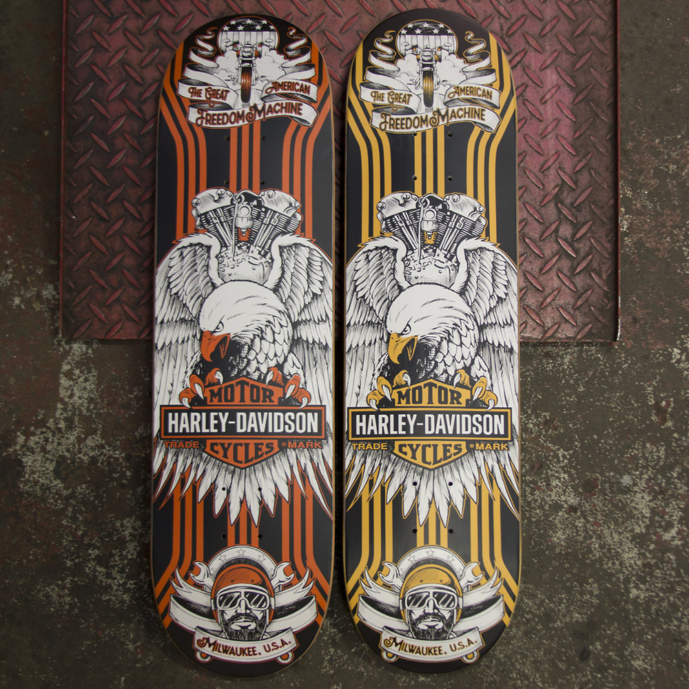 Darkstar skateboards harley davidson deck