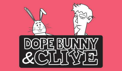 Dope Bunny & Clive; Author:Lacye Lembcke - Dope Bunny & Clive is an internet cartoon featuring a toy bunny, his friends, and their adventures. Every episode has something for everyone.https://www.facebook.com/pg/DopeBunnyandClive1/
