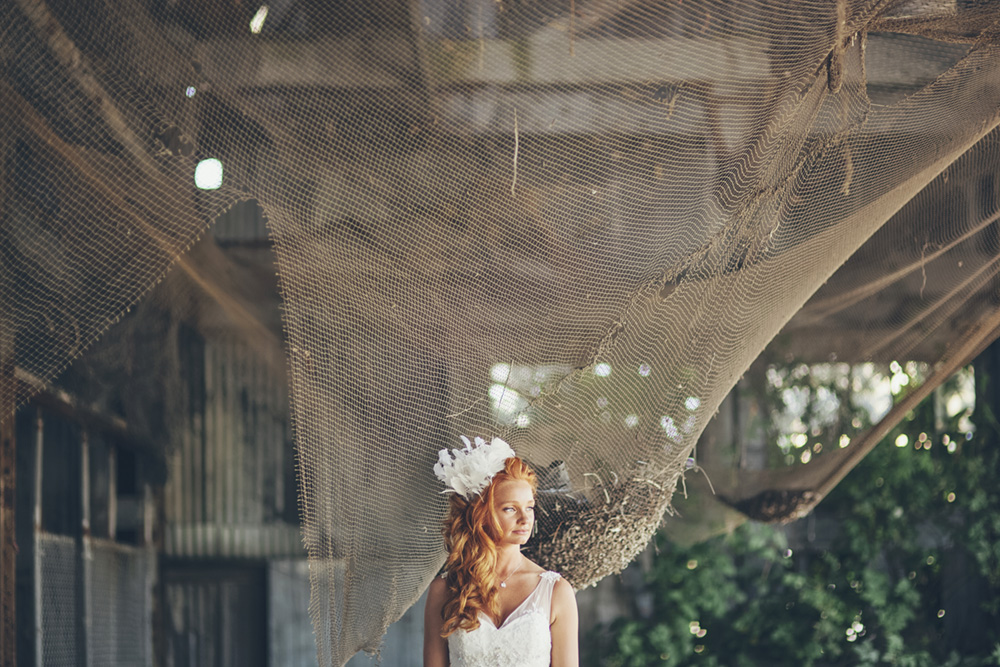 Vancouver Wedding Photo: Bride in a barn