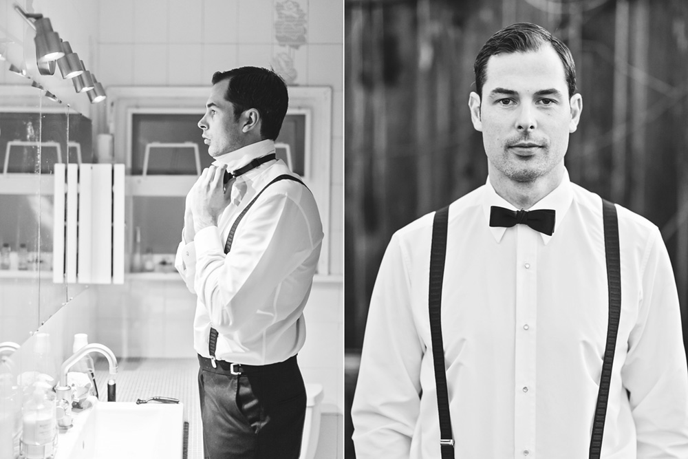 Man prepping before his wedding by Vancouver wedding photographer