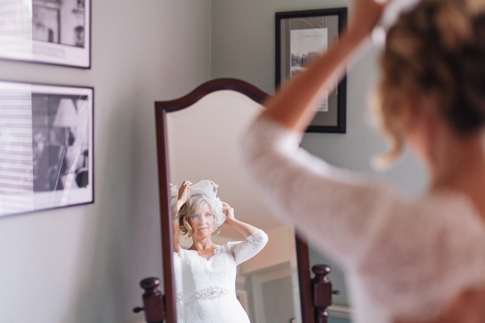 Beautiful woman prepping before getting married