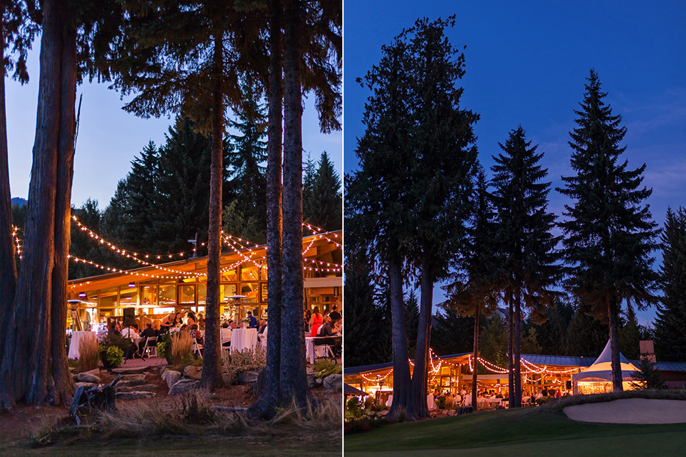 Vancouver wedding photography: Golf course reception at night