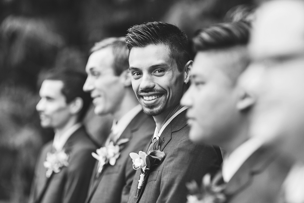 Handsome groom and his friends