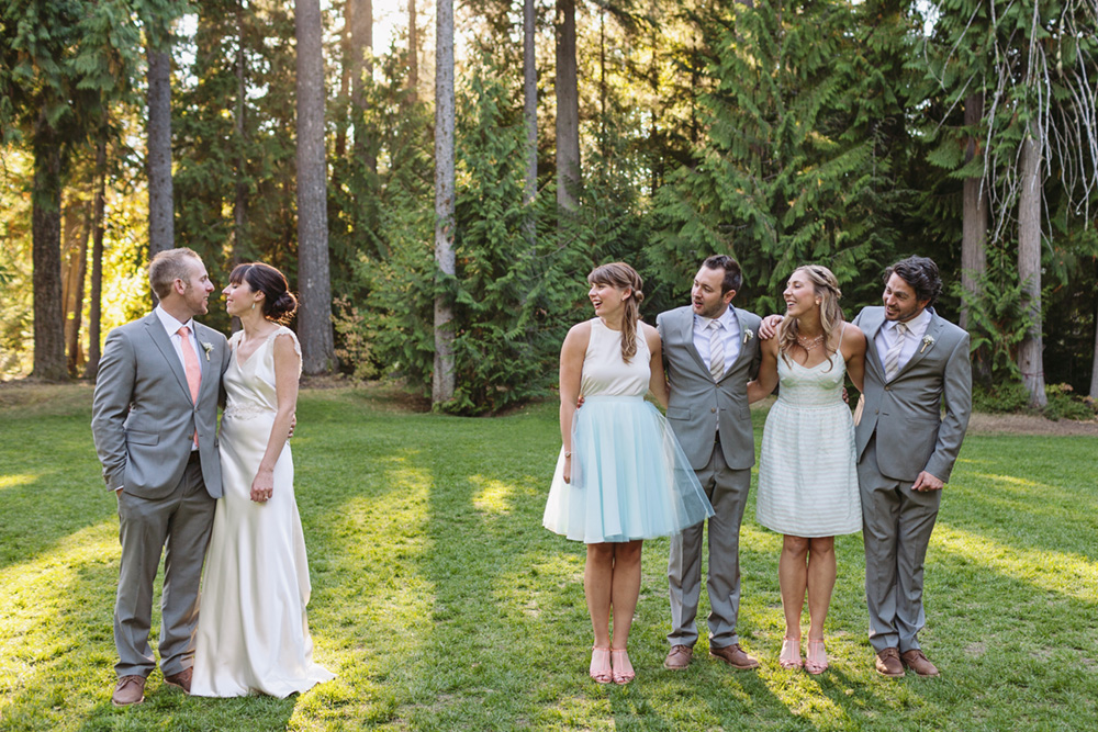 Wedding party in Whistler