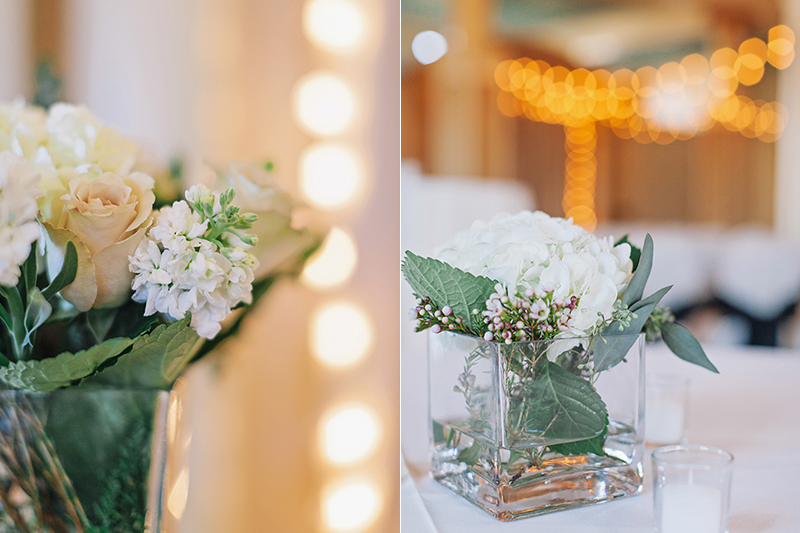 flower detail in wedding ceremony hall