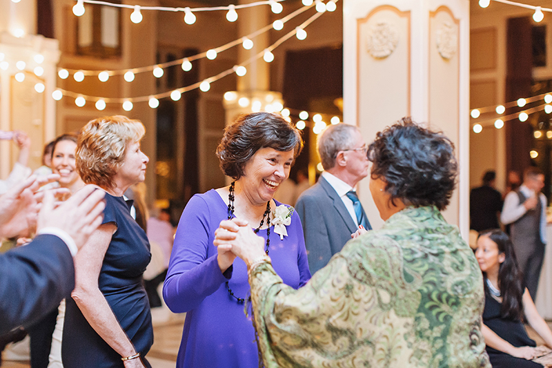 mother of bride dancing with her sister