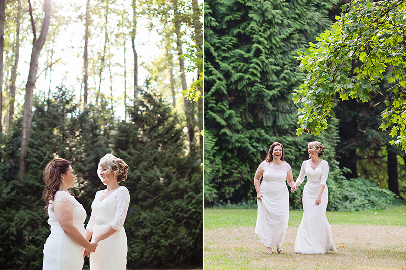 wedding portrait of lesbian couple