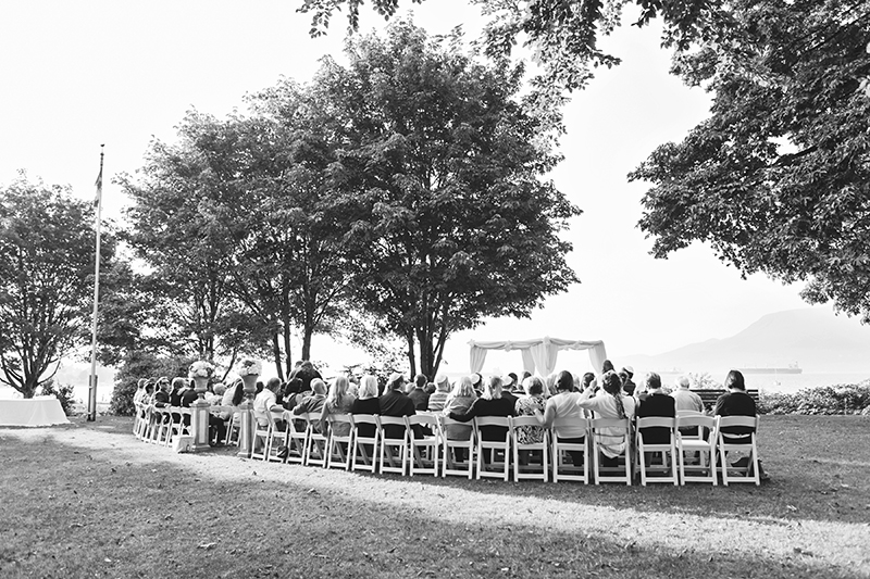 wide angle shot wedding ceremony