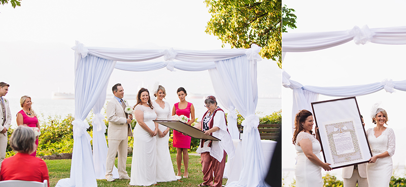 brides with ketubah