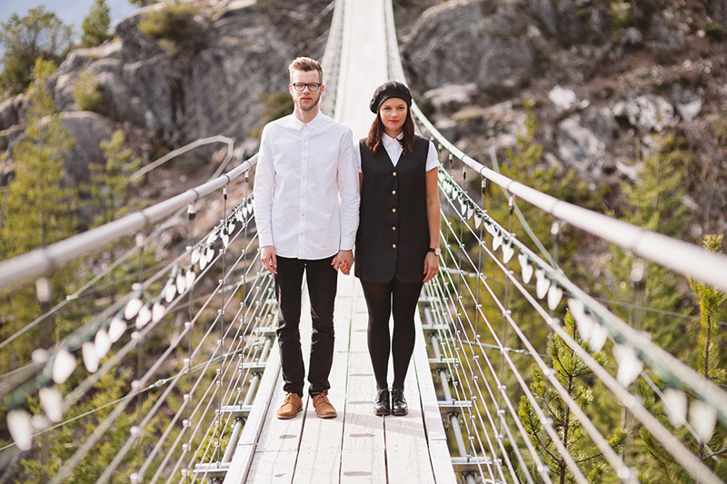 suspension bridge, Vancouver engagement photography