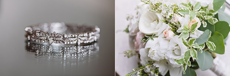 Vancouver wedding photography: brides bracelet and bouquet