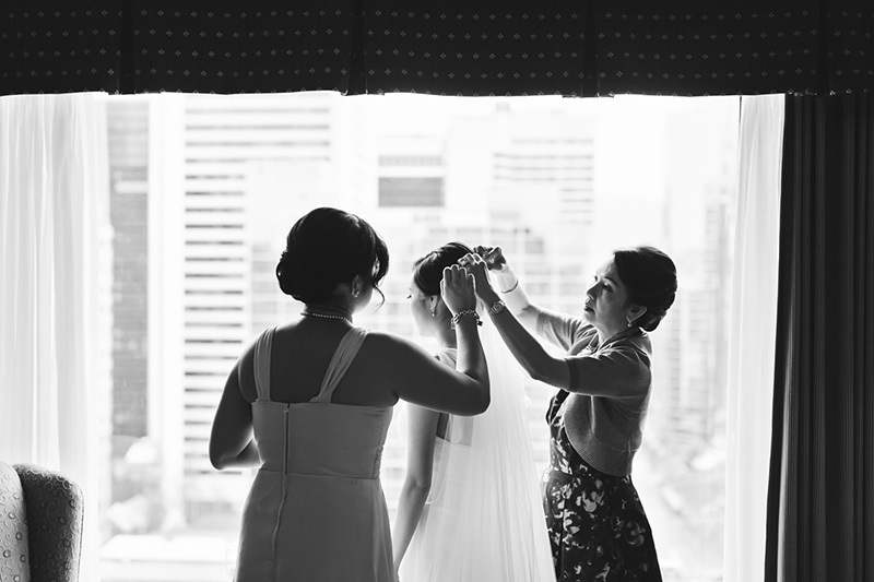 black & white candid wedding photography