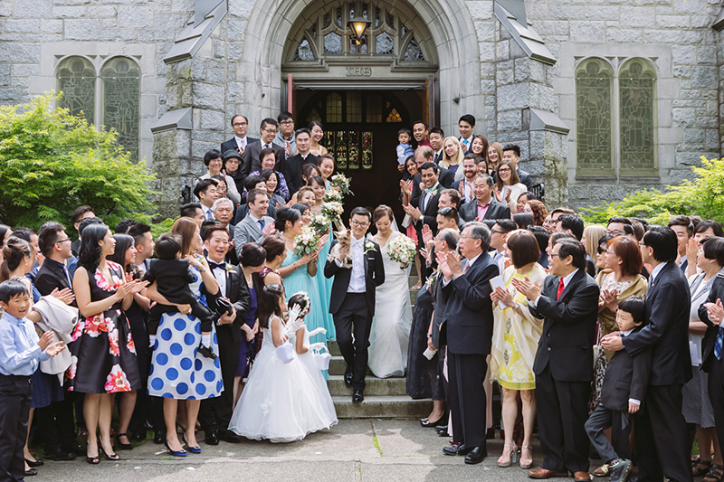 Group photo, Vancouver wedding