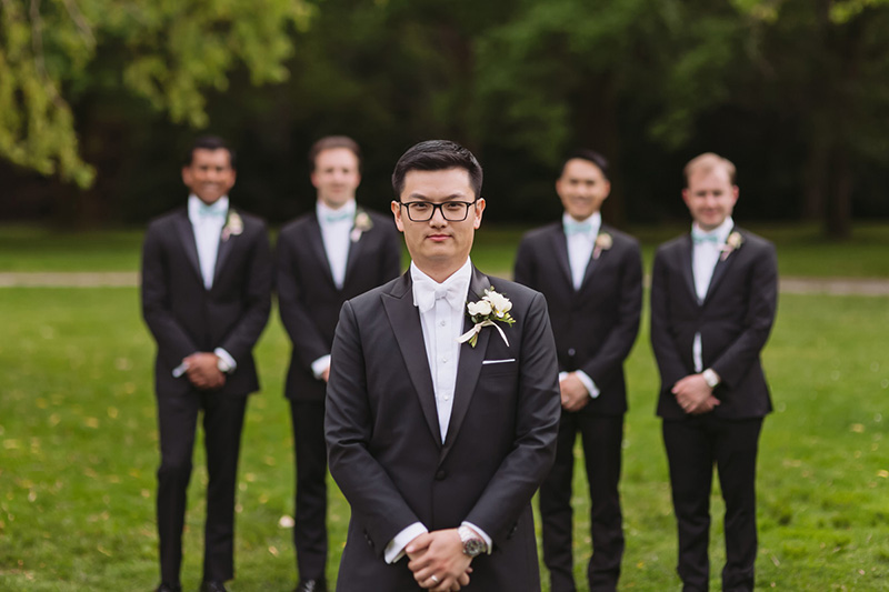 Groom & Groomsmen portrait