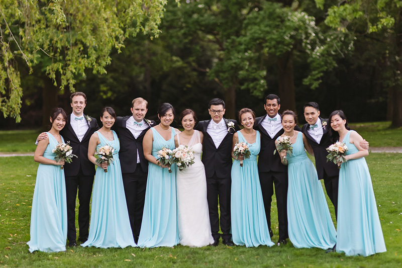 beautiful bridal party portrait