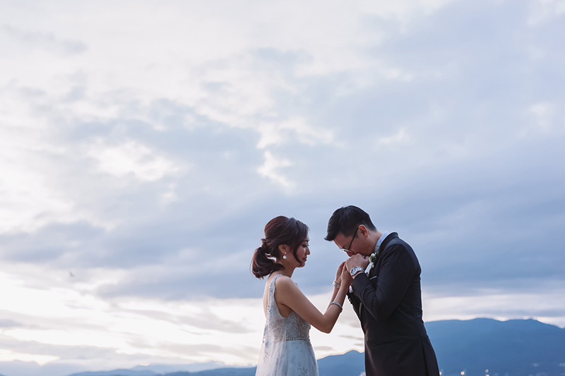 Jericho Beach wedding portrait