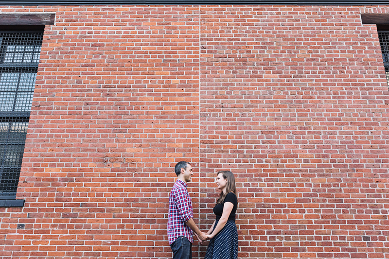Vancouver portrait photography: Gastown engagement