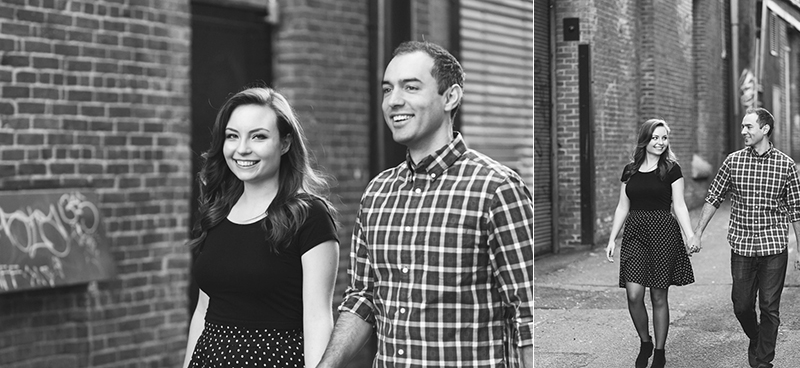 Gastown alley engagement photography
