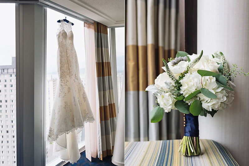 bridal suite details, Sheraton Wall Centre, Vancouver BC