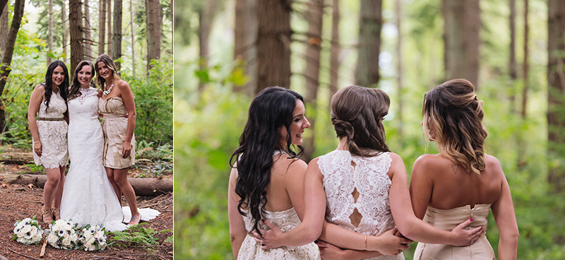 Bridal party in forest, Stanley Park