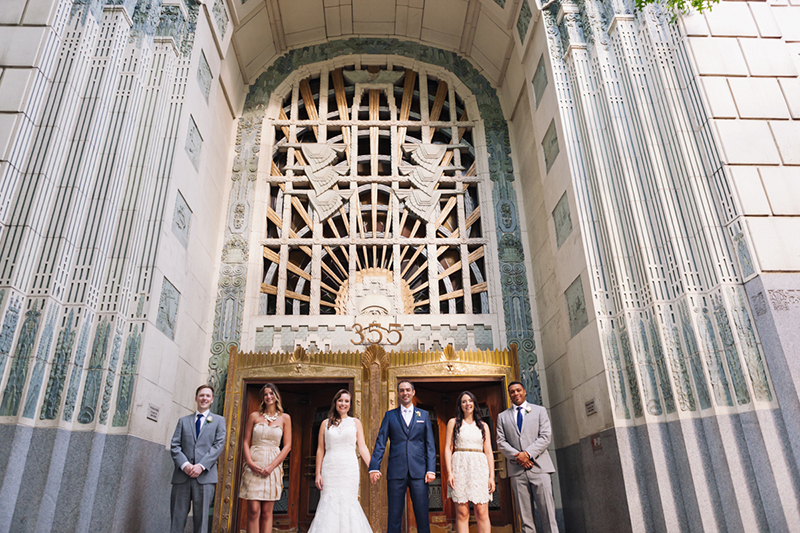 Marine Building wedding party