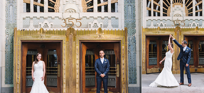 Marine Building wedding
