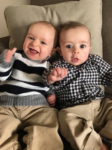 Charlie and Benjamin are now 5 months old and both doing well!