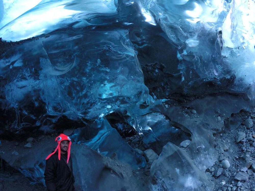 Ice caves of the rapidly receding Mendenhall Glacier, Juneau, AK.