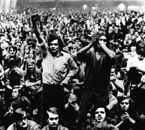 Student FLQ rally, Montreal