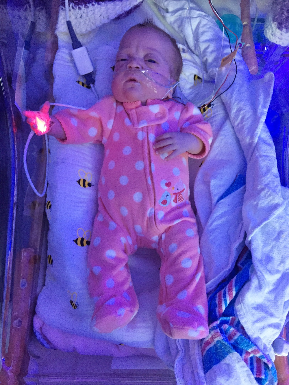 Thanks Ivy for the sweet swag! Probably one of my last times in a preemie outfit!