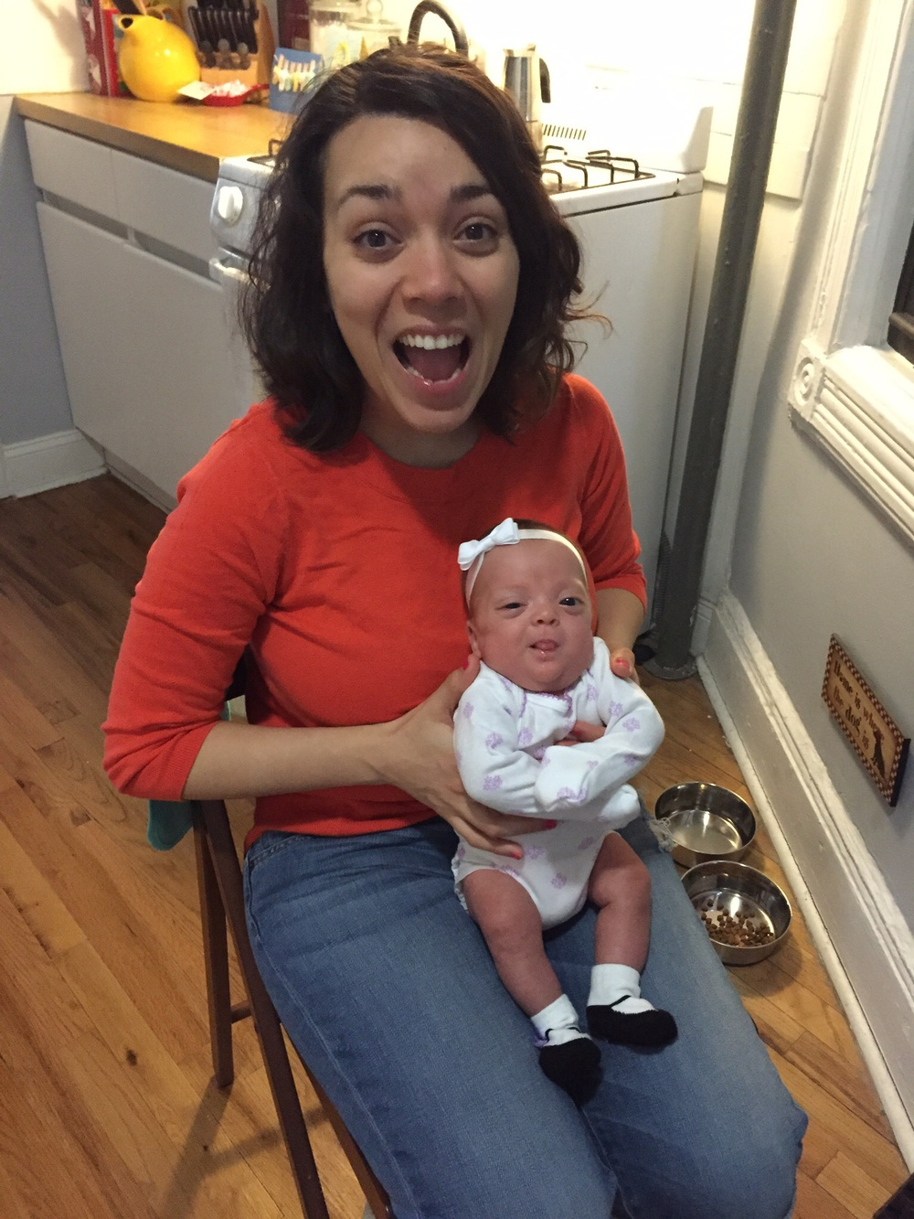 Mommy and Lucie love making silly faces!