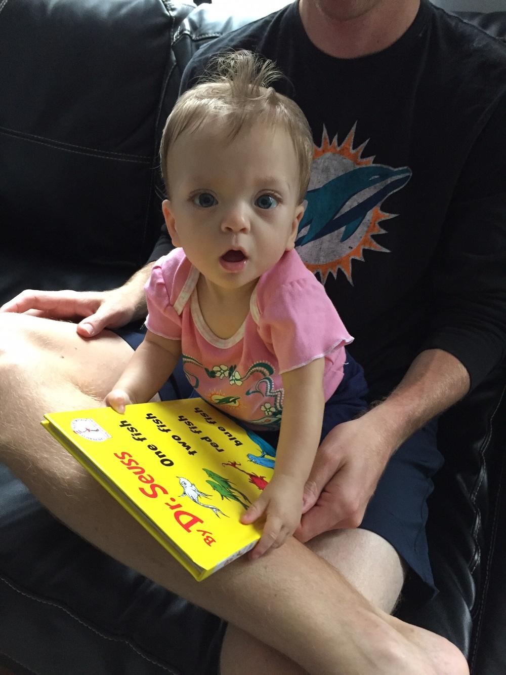 Loving to read!