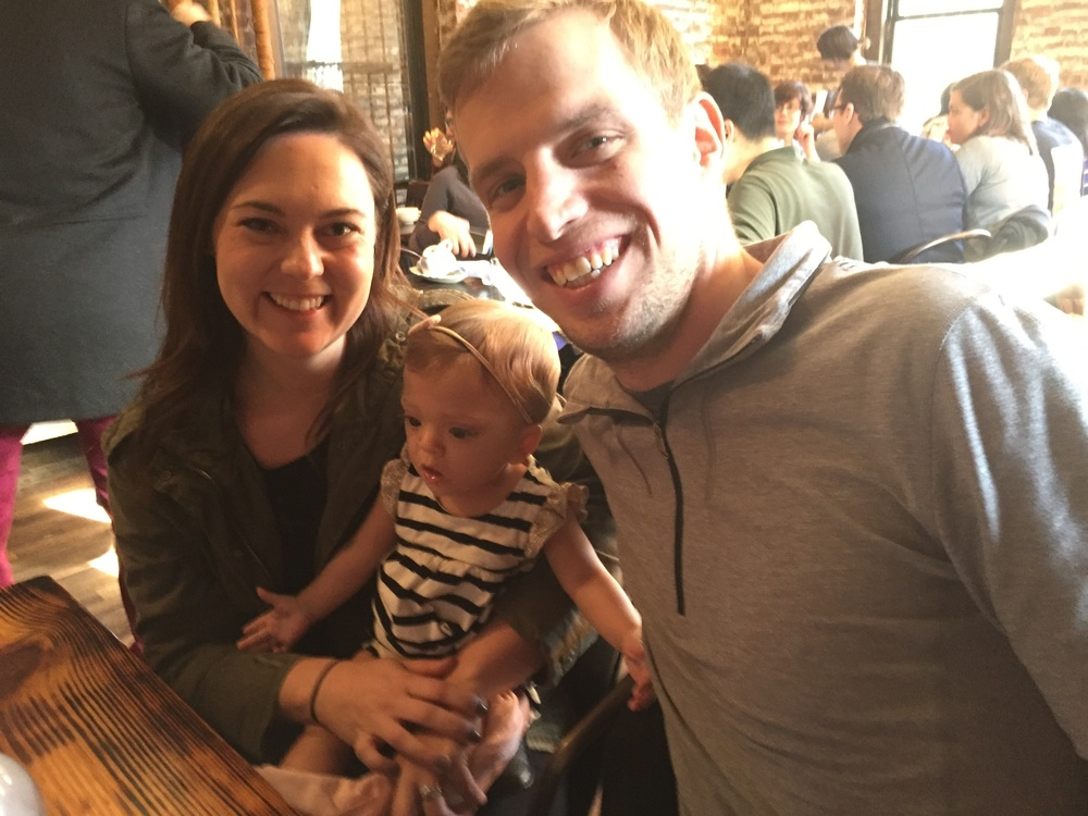 Brunch with Aunt Erin and Uncle Brett