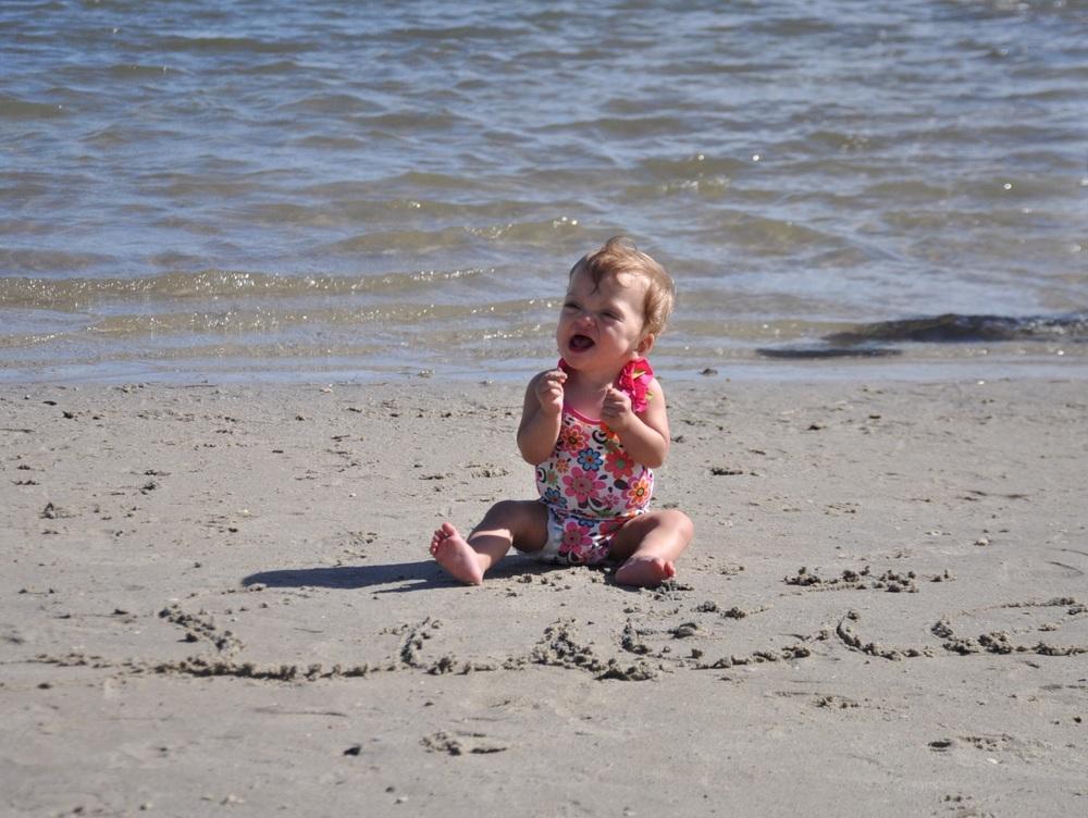 Our little beach bum