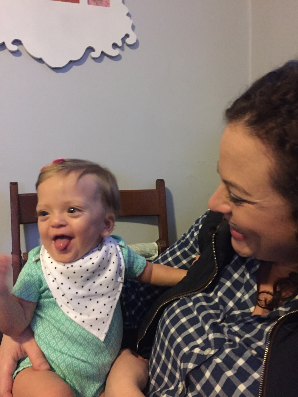 Reunited with her God Nurse from the NICU! All smiles.