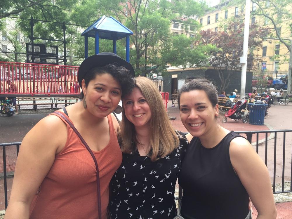 Stela, Nicole, and me.