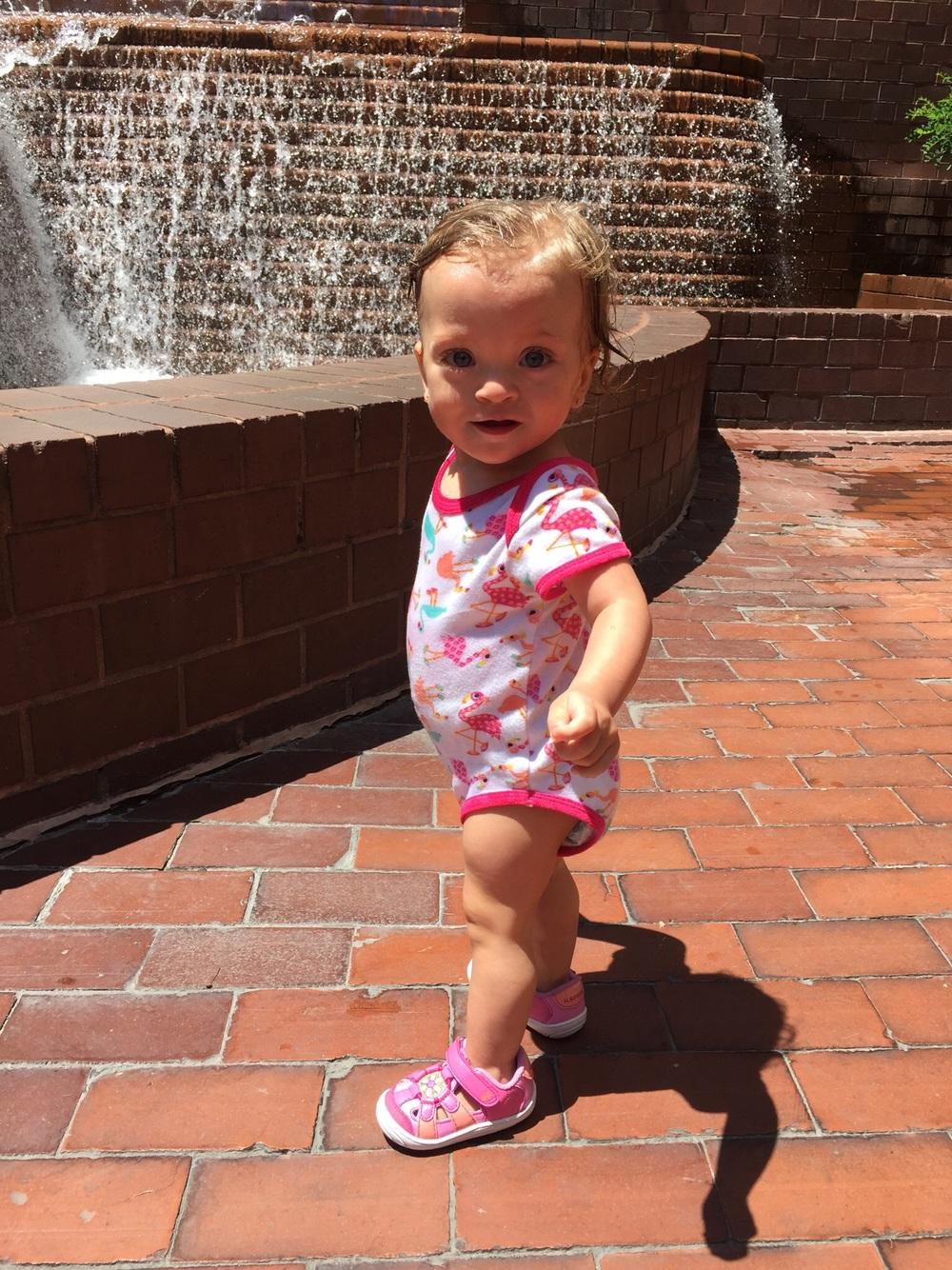 Splashing around!