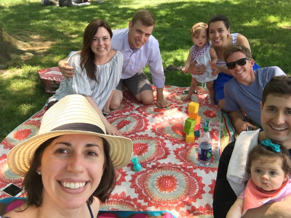 Central Park picnics with the NYC fam.