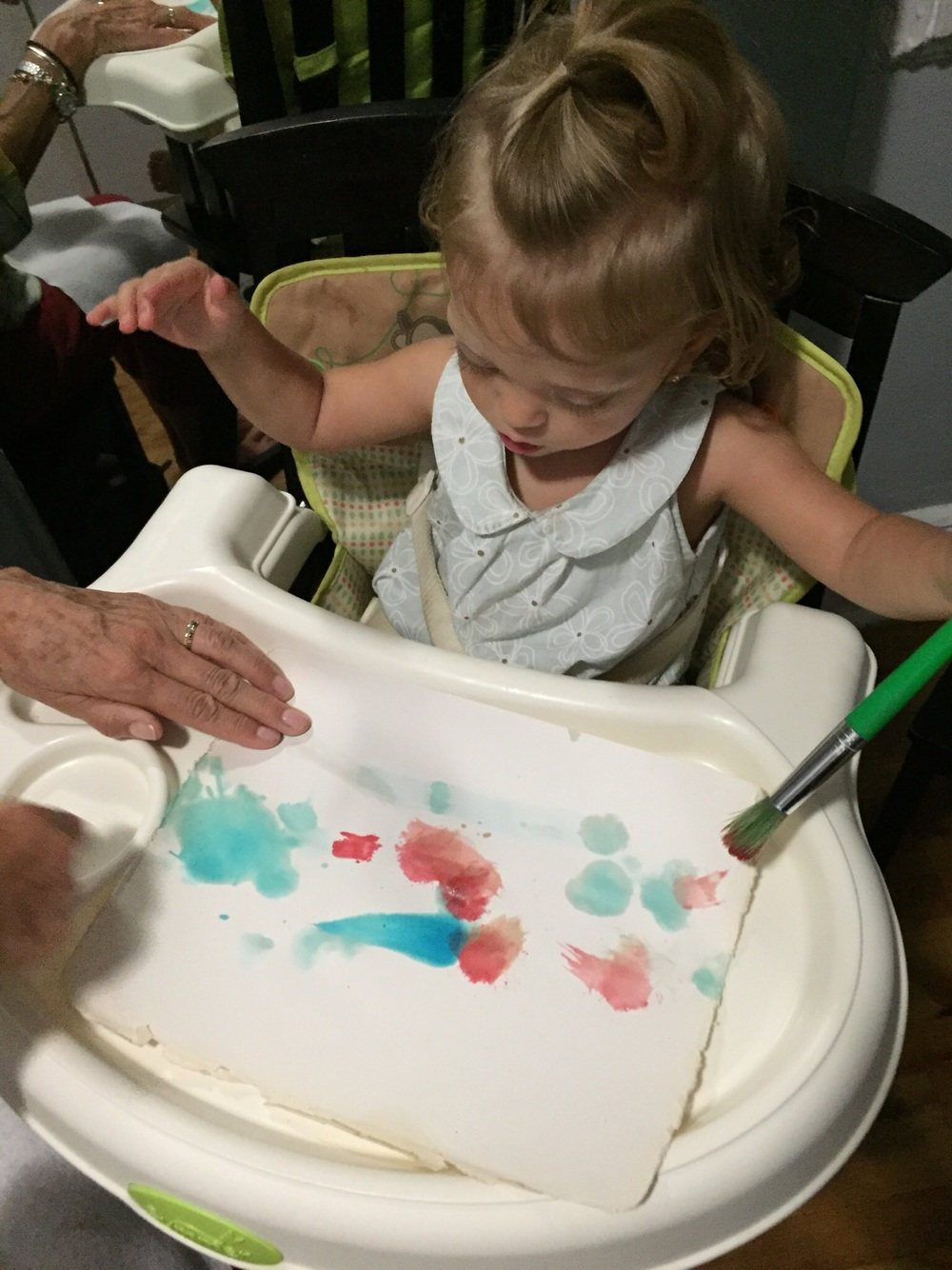 Painting in Special Instruction therapy.