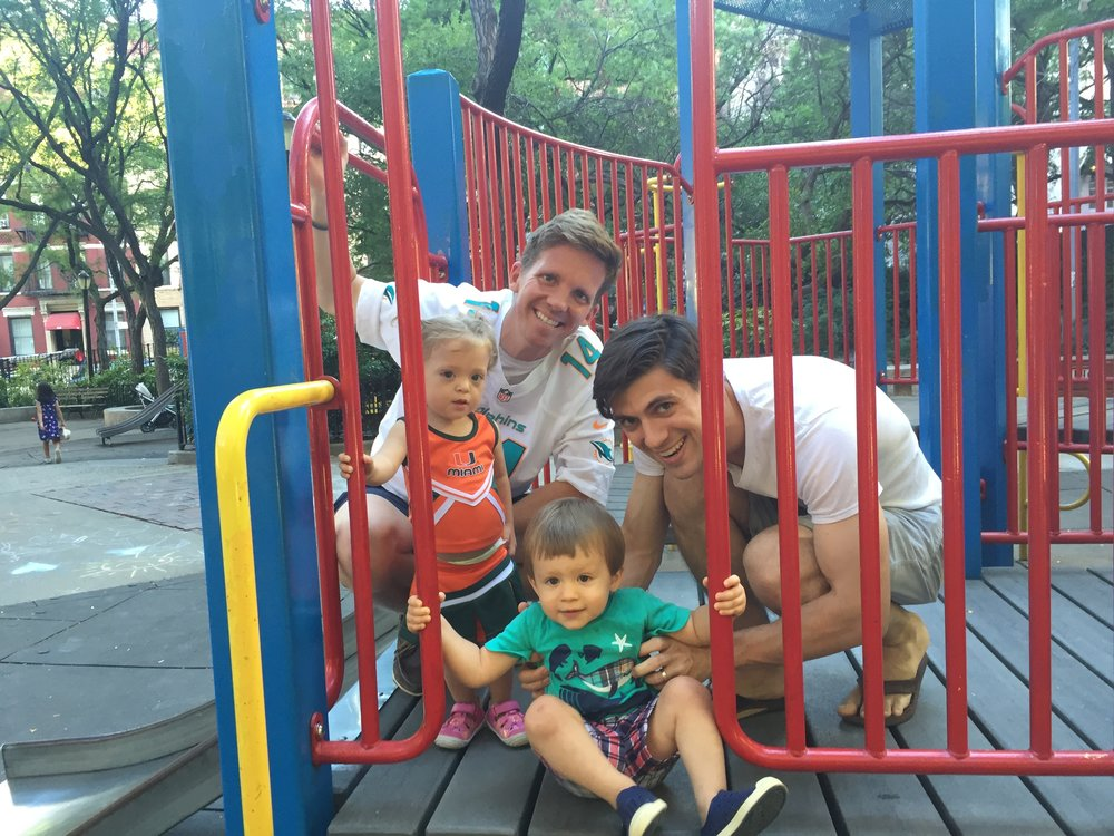 Ran into Roman and Sean at the playground.