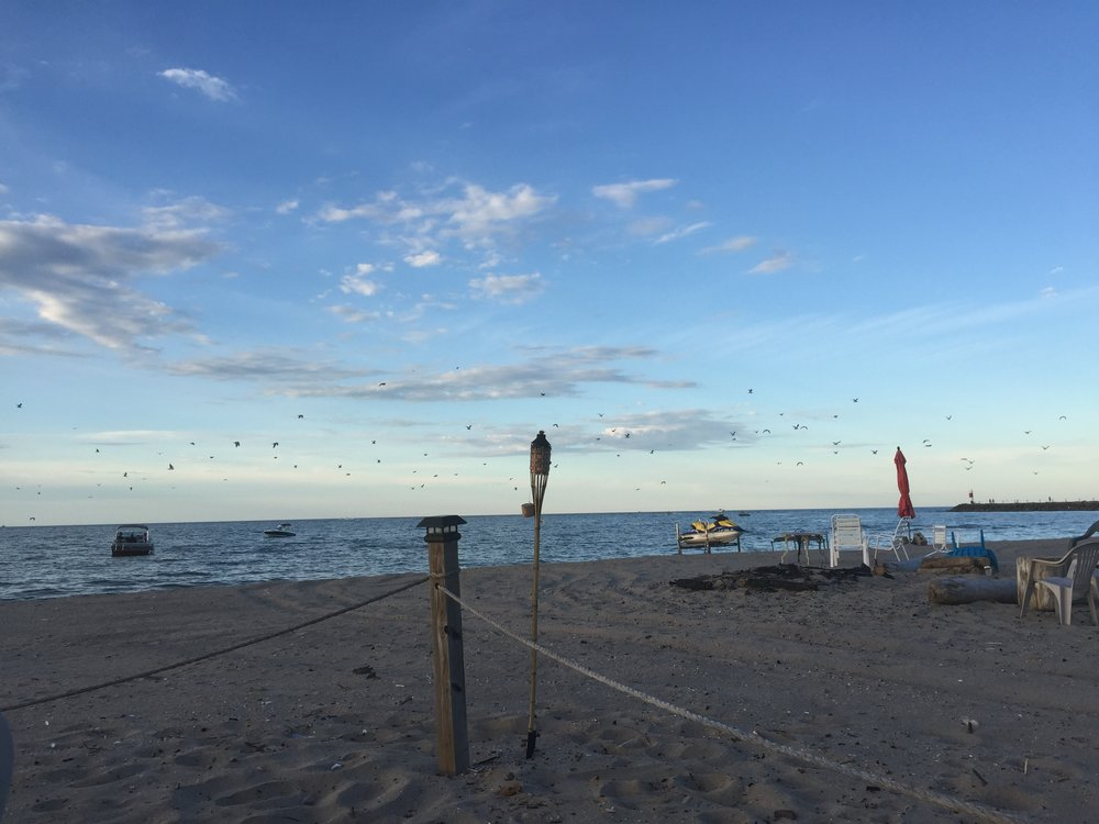 I had a couple of client meetings in Rochester, and this picture was taken on the final day of summer, on a small beach along Lake Ontario.