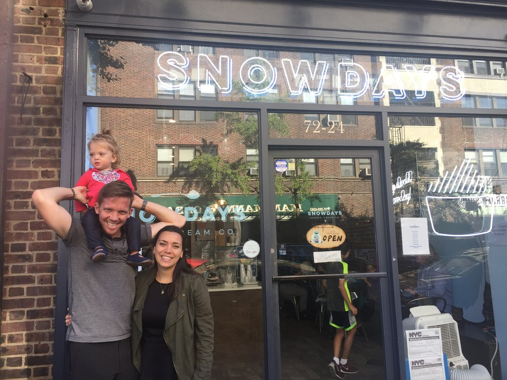 Finally tried Snow Days - think snow cone/ ice cream mixed together with other fun flavors.