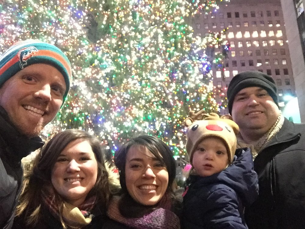 Feeling better and checking out the tree at 30 Rock.
