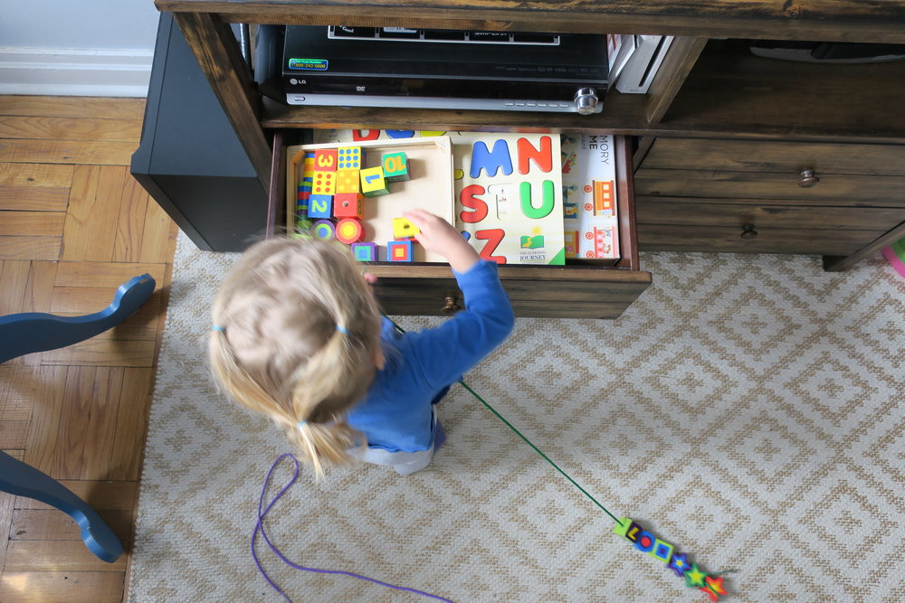 Lucie is really enjoying her puzzle drawer more these days :)