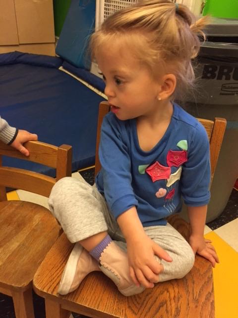 "Sitting criss-cross applesauce in ""circle"" at school."