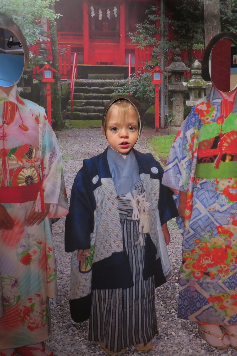 Bahahahaha... this one is a keeper! We took her to the Children's museum and there was a section on Japan!