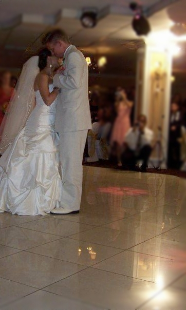 Our first dance at the reception.