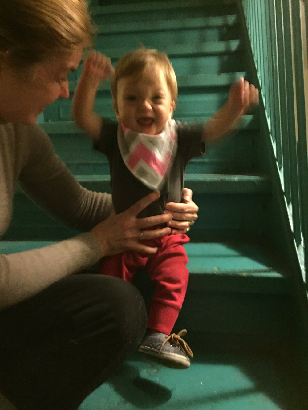 Learning to climb the stairs!