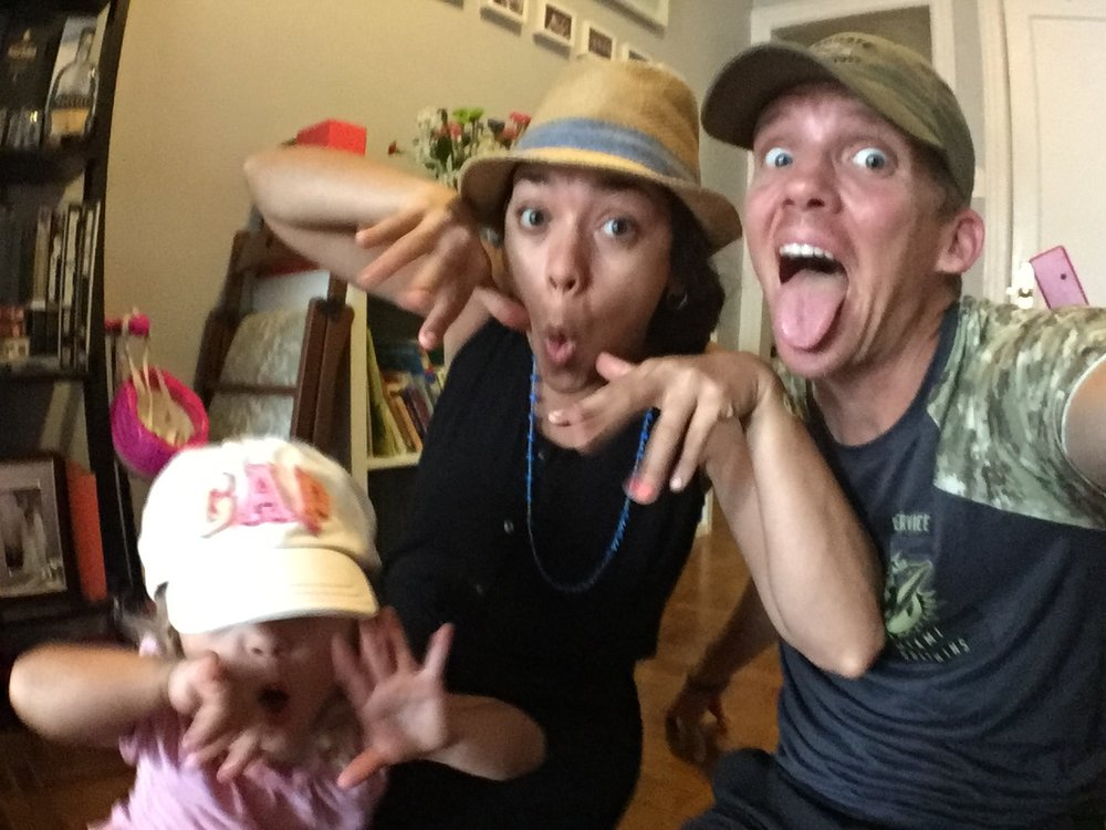 Silly Selfies - Lucie wanted us all to wear hats.
