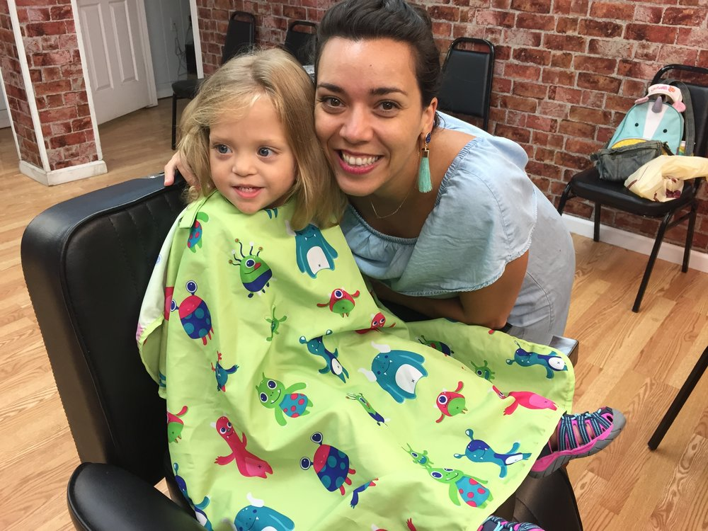 GETTING HER HAIR CUT FOR THE FIRST TIME!!!